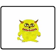 Monster Troll Halloween Shudder  Double Sided Fleece Blanket (Medium)