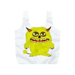 Monster Troll Halloween Shudder  Full Print Recycle Bags (S)