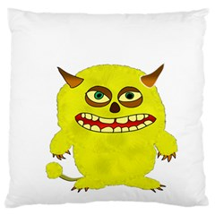 Monster Troll Halloween Shudder  Large Flano Cushion Case (One Side)
