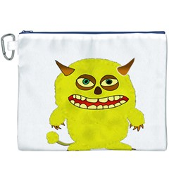 Monster Troll Halloween Shudder  Canvas Cosmetic Bag (XXXL)