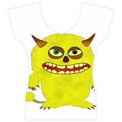 Monster Troll Halloween Shudder  Women s V-Neck Cap Sleeve Top