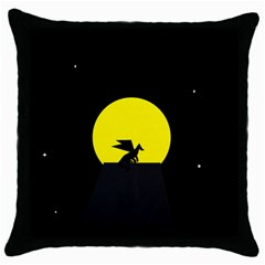 Moon And Dragon Dragon Sky Dragon Throw Pillow Case (Black)