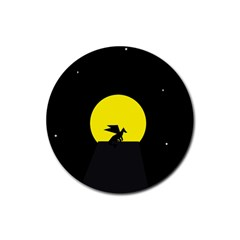 Moon And Dragon Dragon Sky Dragon Rubber Round Coaster (4 pack)