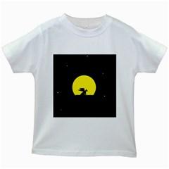 Moon And Dragon Dragon Sky Dragon Kids White T-Shirts