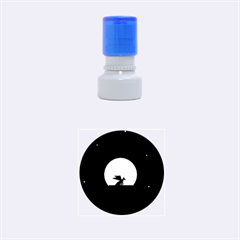 Moon And Dragon Dragon Sky Dragon Rubber Round Stamps (Small)
