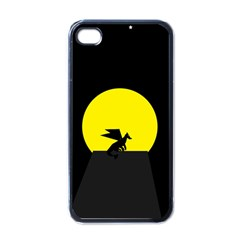 Moon And Dragon Dragon Sky Dragon Apple iPhone 4 Case (Black)