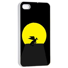 Moon And Dragon Dragon Sky Dragon Apple iPhone 4/4s Seamless Case (White)