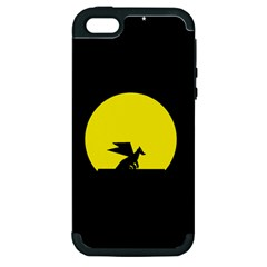 Moon And Dragon Dragon Sky Dragon Apple iPhone 5 Hardshell Case (PC+Silicone)