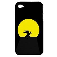 Moon And Dragon Dragon Sky Dragon Apple iPhone 4/4S Hardshell Case (PC+Silicone)