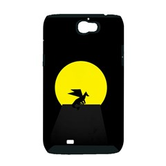 Moon And Dragon Dragon Sky Dragon Samsung Galaxy Note 2 Hardshell Case (PC+Silicone)