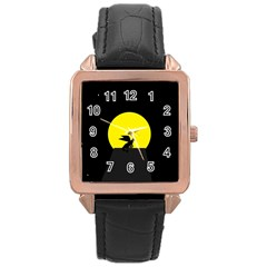 Moon And Dragon Dragon Sky Dragon Rose Gold Leather Watch