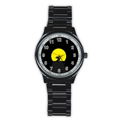 Moon And Dragon Dragon Sky Dragon Stainless Steel Round Watch
