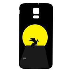 Moon And Dragon Dragon Sky Dragon Samsung Galaxy S5 Back Case (White)