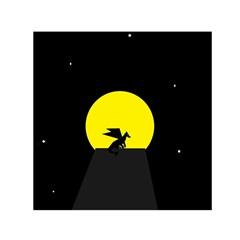 Moon And Dragon Dragon Sky Dragon Small Satin Scarf (Square)