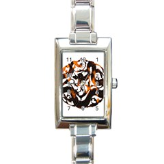 Ornament Dragons Chinese Art Rectangle Italian Charm Watch