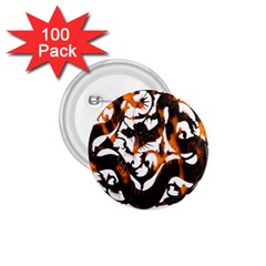 Ornament Dragons Chinese Art 1.75  Buttons (100 pack)