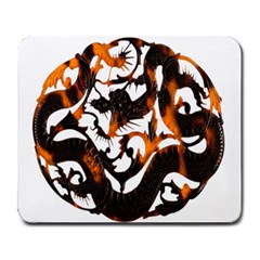 Ornament Dragons Chinese Art Large Mousepads