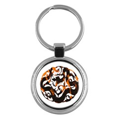Ornament Dragons Chinese Art Key Chains (Round)