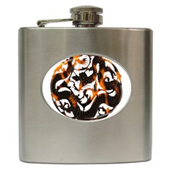 Ornament Dragons Chinese Art Hip Flask (6 oz)