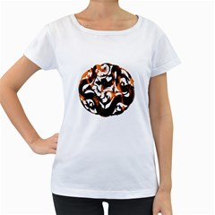 Ornament Dragons Chinese Art Women s Loose-Fit T-Shirt (White)