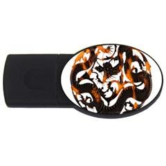 Ornament Dragons Chinese Art USB Flash Drive Oval (4 GB)