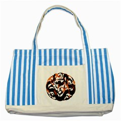Ornament Dragons Chinese Art Striped Blue Tote Bag