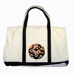 Ornament Dragons Chinese Art Two Tone Tote Bag