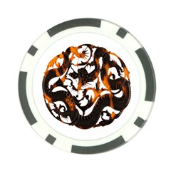 Ornament Dragons Chinese Art Poker Chip Card Guards