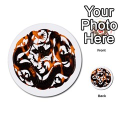 Ornament Dragons Chinese Art Multi-purpose Cards (Round)