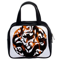 Ornament Dragons Chinese Art Classic Handbags (2 Sides)