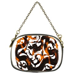 Ornament Dragons Chinese Art Chain Purses (One Side)