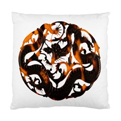 Ornament Dragons Chinese Art Standard Cushion Case (Two Sides)