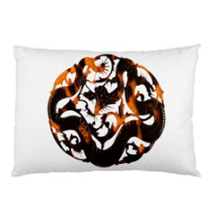 Ornament Dragons Chinese Art Pillow Case