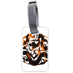 Ornament Dragons Chinese Art Luggage Tags (One Side)