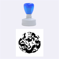 Ornament Dragons Chinese Art Rubber Round Stamps (Medium)