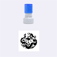 Ornament Dragons Chinese Art Rubber Round Stamps (Small)
