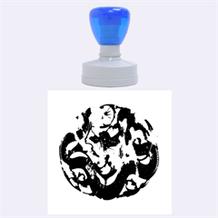 Ornament Dragons Chinese Art Rubber Round Stamps (Large)
