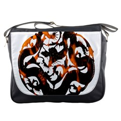 Ornament Dragons Chinese Art Messenger Bags