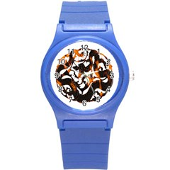 Ornament Dragons Chinese Art Round Plastic Sport Watch (S)