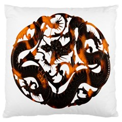 Ornament Dragons Chinese Art Large Cushion Case (One Side)