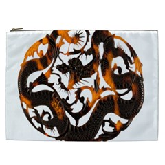 Ornament Dragons Chinese Art Cosmetic Bag (XXL)