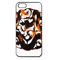 Ornament Dragons Chinese Art Apple iPhone 5 Seamless Case (Black)