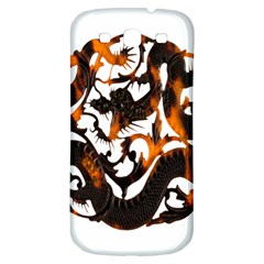 Ornament Dragons Chinese Art Samsung Galaxy S3 S III Classic Hardshell Back Case
