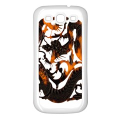 Ornament Dragons Chinese Art Samsung Galaxy S3 Back Case (White)