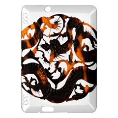 Ornament Dragons Chinese Art Kindle Fire HDX Hardshell Case