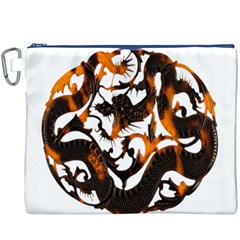 Ornament Dragons Chinese Art Canvas Cosmetic Bag (XXXL)