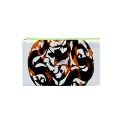Ornament Dragons Chinese Art Cosmetic Bag (XS)