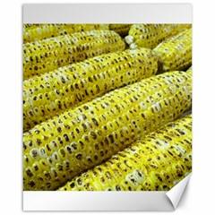 Corn Grilled Corn Cob Maize Cob Canvas 16  x 20