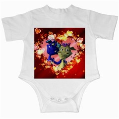 Ove Hearts Cute Valentine Dragon Infant Creepers