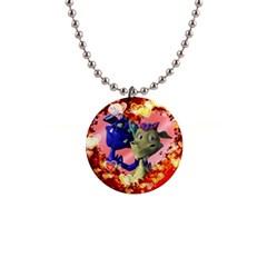 Ove Hearts Cute Valentine Dragon Button Necklaces
